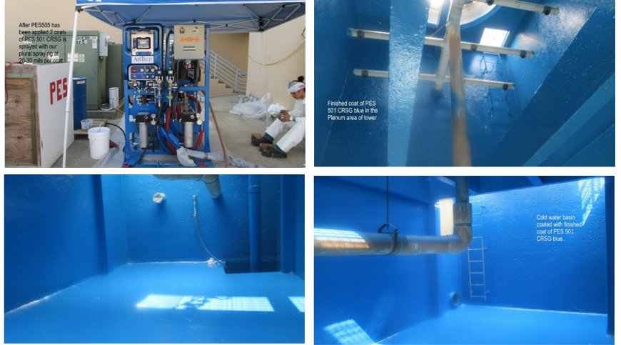 cooling tower epoxy coating services